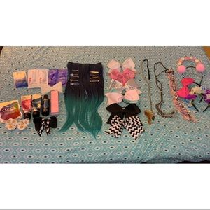Hair Accessories/Care Products Bundle